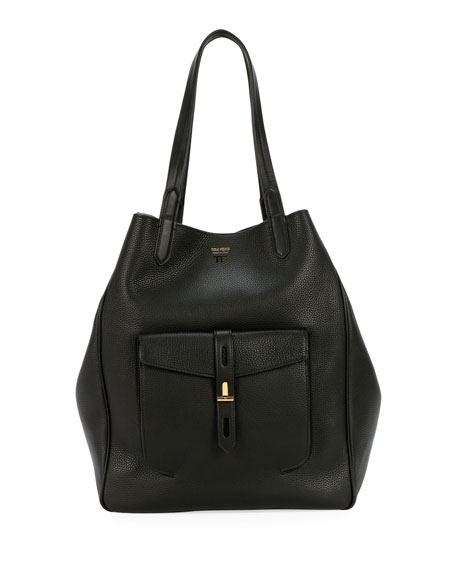 TOM FORD Grain Leather East-West Tote Bag