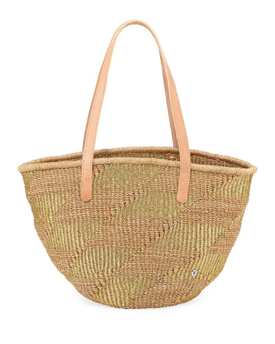 Lampione Abaca Shoulder Tote Bag