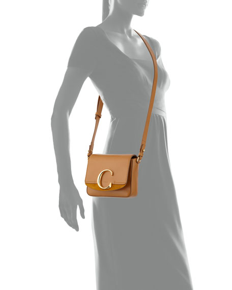 Image 4 of 4: Chloe C Mini Shiny Leather Shoulder Bag