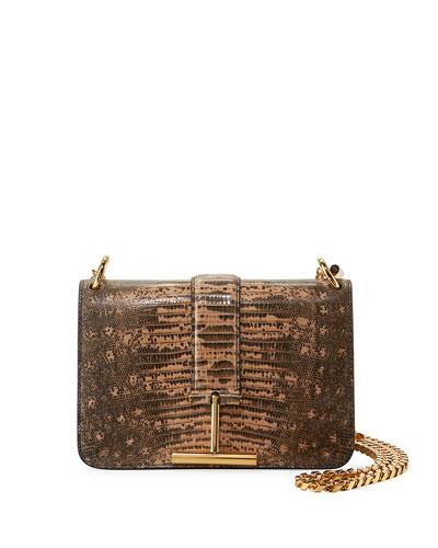 Tara Chain Tejus Lizard Shoulder Bag