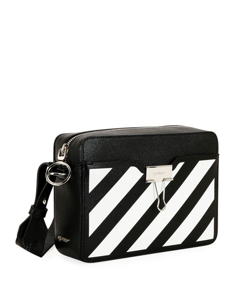 Off-White Diagonal Leather Camera Shoulder Bag