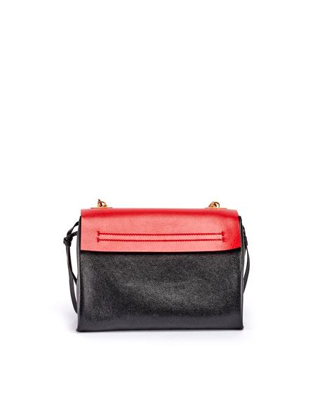 Valentino Garavani VRING Medium Colorblock Leather Shoulder Bag