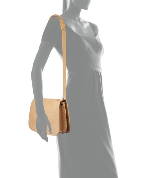 Saint Laurent Amalia Medium Leather Full Flap Crossbody Bag