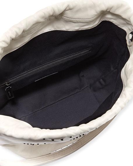 Saint Laurent Teddy Large Star-Stud Drawstring Bucket Bag