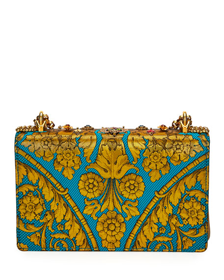 Dolce & Gabbana DG Girls Embellished Jacquard Shoulder Bag