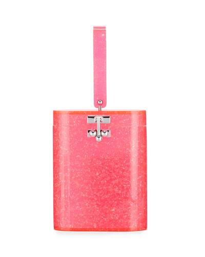 Oval Acrylic Top-Handle Bag