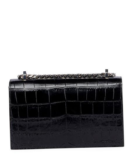 Alexander McQueen Jewelled Crocodile-Embossed Satchel Bag