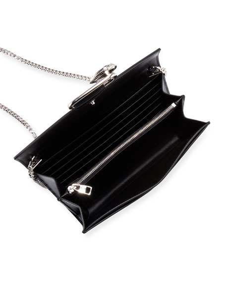 Alexander McQueen Mini Pin Two-Tone Leather Shoulder Bag