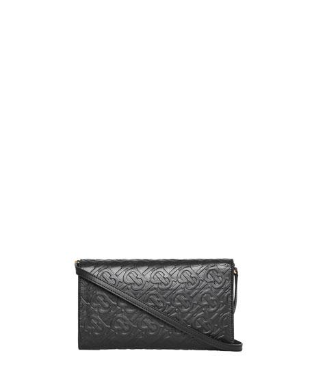 Burberry Hazelmere Logo-Embossed Crossbody Bag, Black
