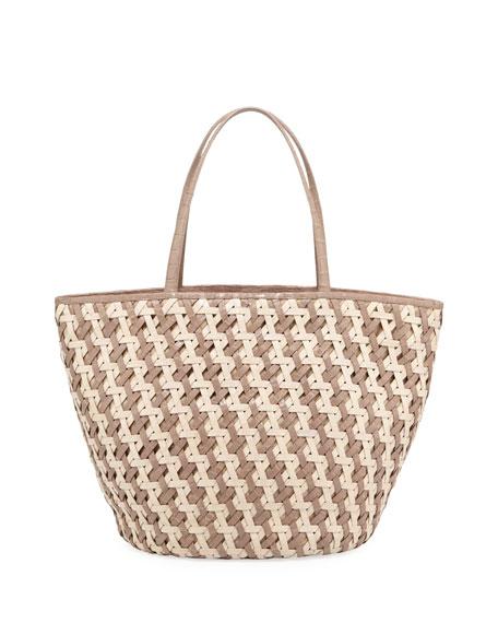 Nancy Gonzalez Woven Crocodile Tote Bag