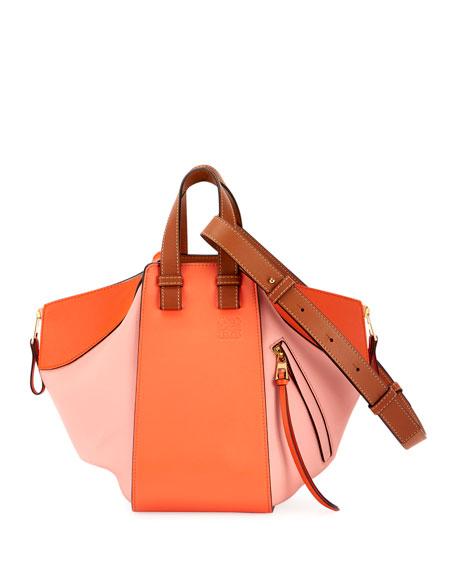 Loewe Hammock Small Colorblock Leather Shoulder Bag