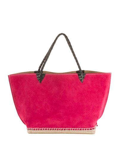 Large Suede Espadrille Tote Bag