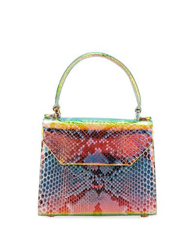 Lily Small Python Top-Handle Crossbody Bag