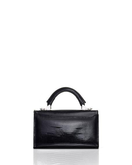 STALVEY Glossy Lizard Top Handle Bag