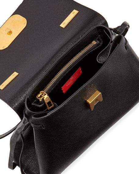 Valentino Garavani V Ring Small Leather Top-Handle Shoulder Bag
