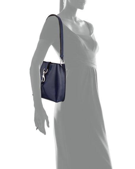 Rebecca Minkoff Megan Small Leather Feed Bag, Blue