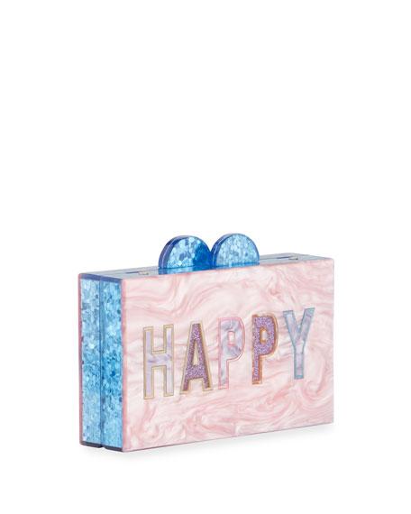 Bari Lynn Girls' Happy Rainbow Box Clutch Bag