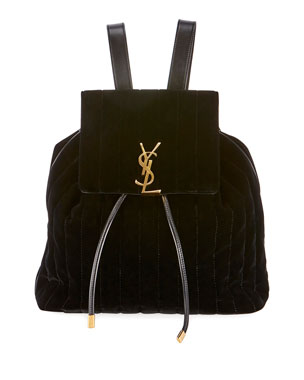 3f8db3ed4 Saint Laurent Vicky Quilted Drawstring Backpack