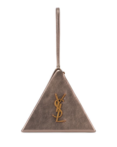 Monogram YSL Metallic Pyramid Bag