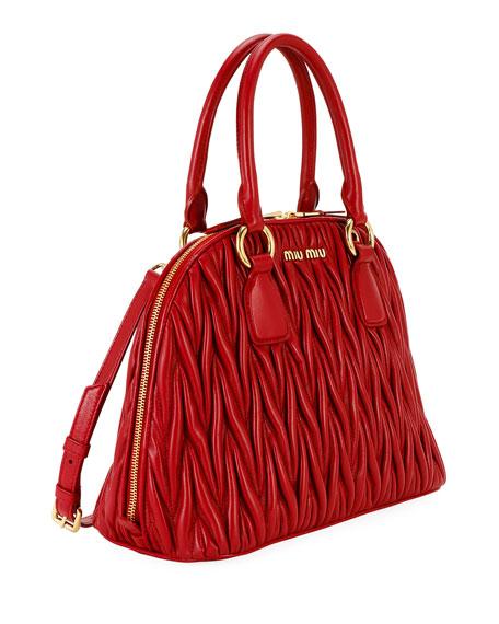 Miu Miu Matelasse Dome Top Handle Bag