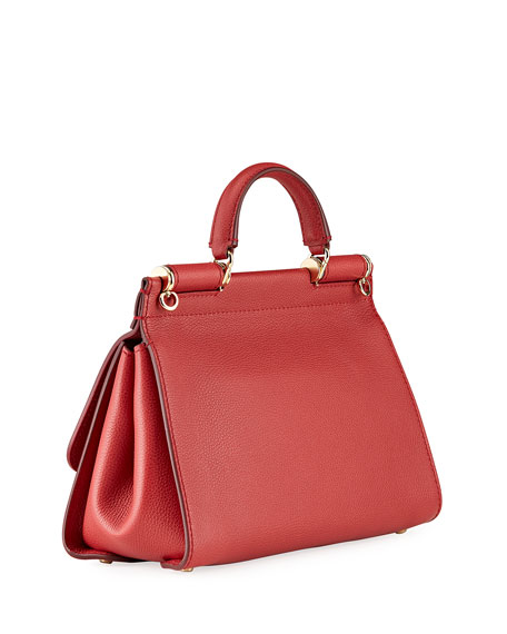 Dolce & Gabbana Sicily Soft Leather Top-Handle Bag