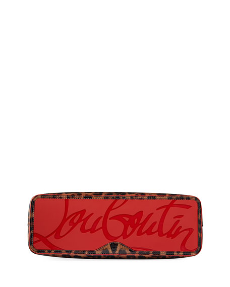 Christian Louboutin Cabata Small Leopard-Print Patent Tote Bag