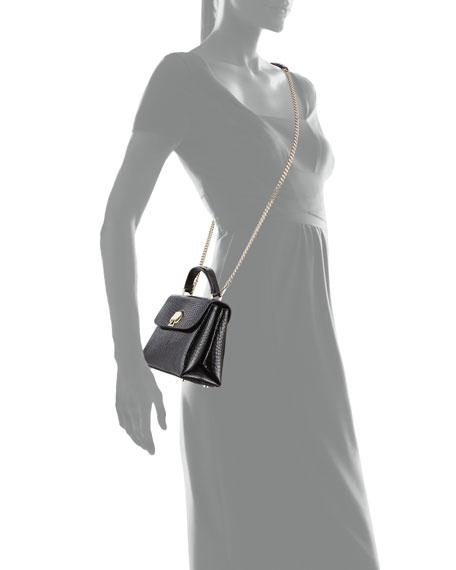 kate spade new york romy croc-embossed mini top-handle bag