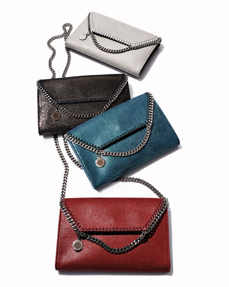 Image 2 of 4: Stella McCartney Falabella Mini Shaggy Deer Wallet on Chain