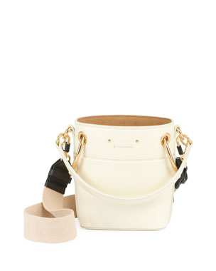 71b03b375f75 Chloe Roy Mini Smooth Leather Bucket Bag