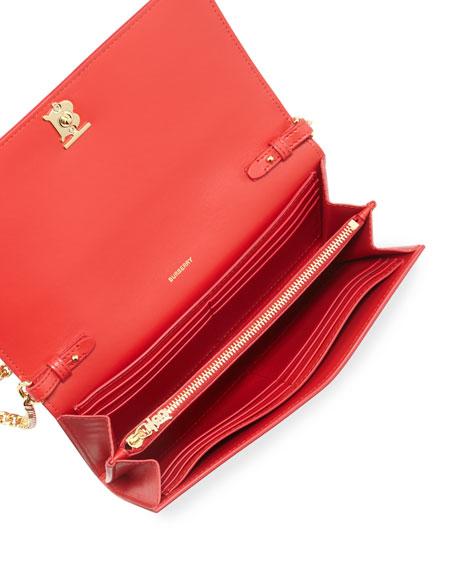 Burberry Hannah Grainy Crossbody Bag, Bright Red