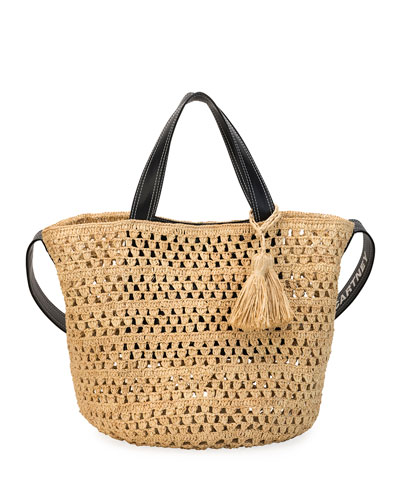 Crochet Raffia Bucket Bag
