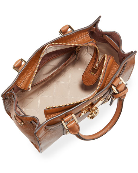 Image 2 of 4: Nouveau Studded Leather Satchel Tote Bag