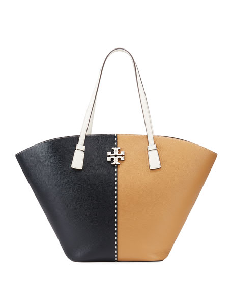 Image 1 of 3: Tory Burch McGraw Colorblock Leather Tote bag