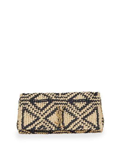 Kate YSL Woven Raffia Shoulder Bag