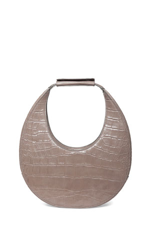 Staud Moon Mock-Croc Shoulder Bag