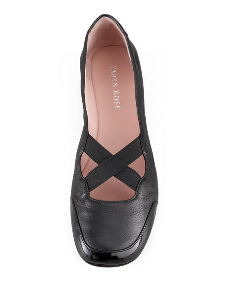 Crisscross Elastic Ballerina Flat