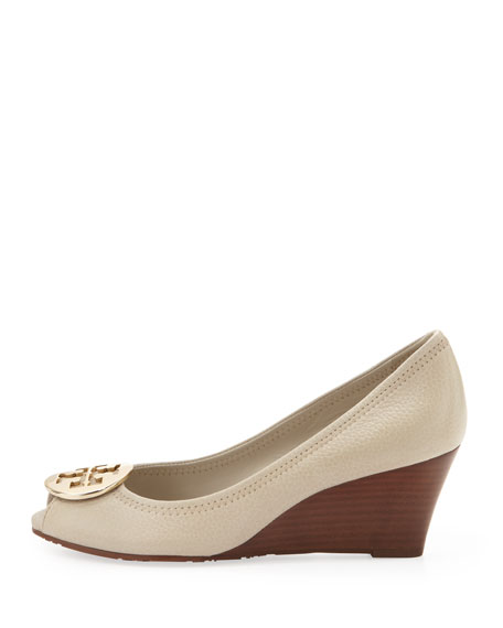 Sally Peep-Toe Wedge Pump