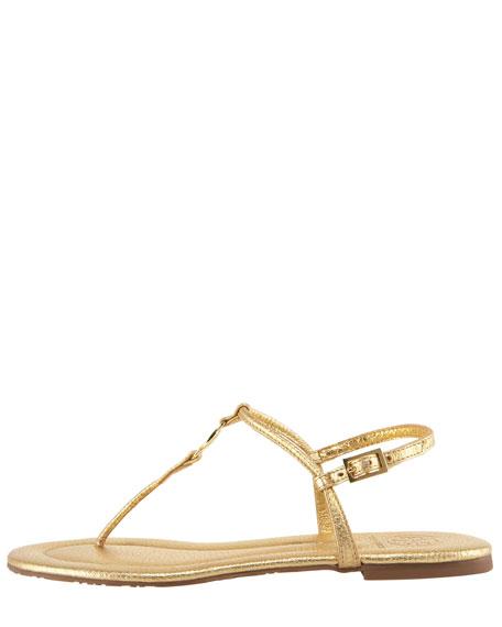 Tory Burch Emmy Metallic Thong Sandal
