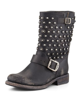 Frye Jenna Disc Short Motorcycle Boot