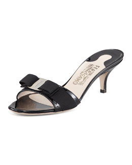 Salvatore Ferragamo Glory Patent Leather Slide