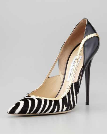 Viper Calf Hair Stiletto Pump
