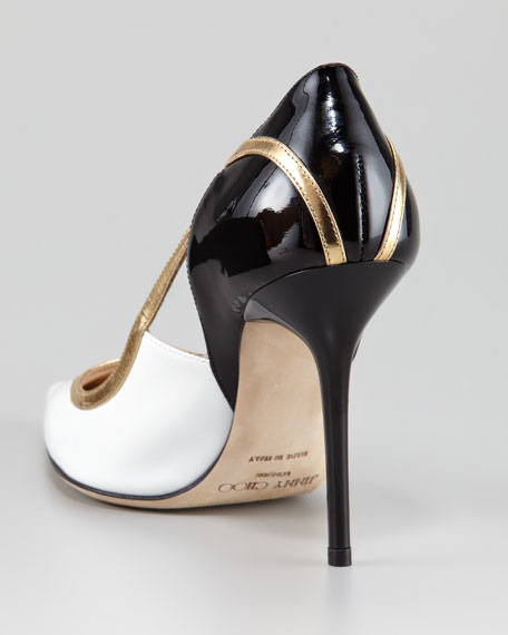 Vero Colorblock Patent Leather Pump