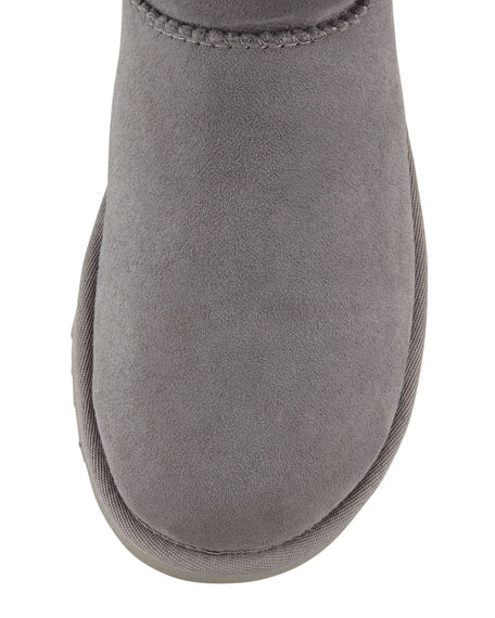 Monogrammed Classic Tall Boot, Gray