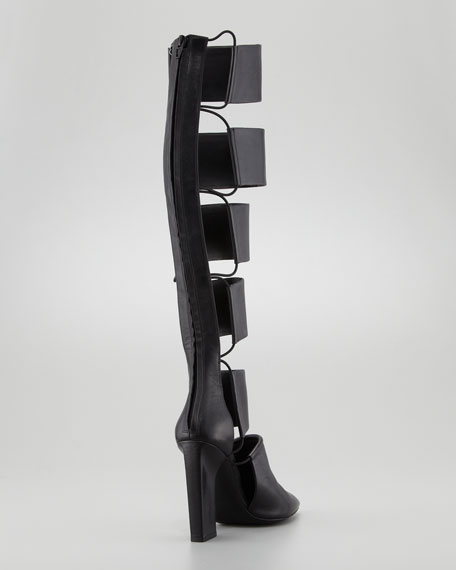 Marta Runway Cutout Knee Boot