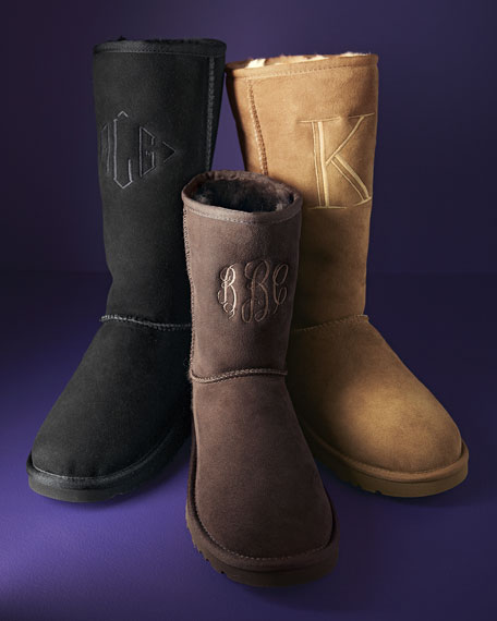 Classic Short Boot, Chocolate