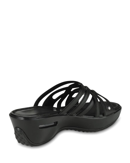 Air Ezra Strappy Wedge, Black