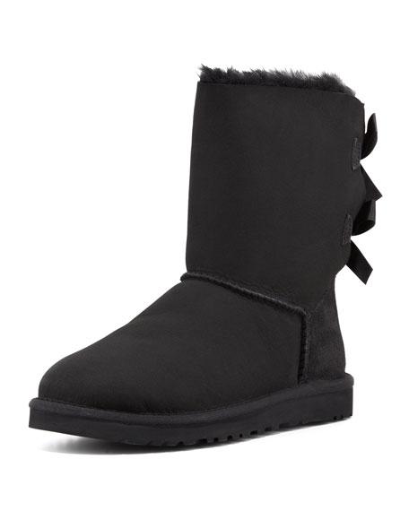 Bailey Bow-Back Short Boot, Black