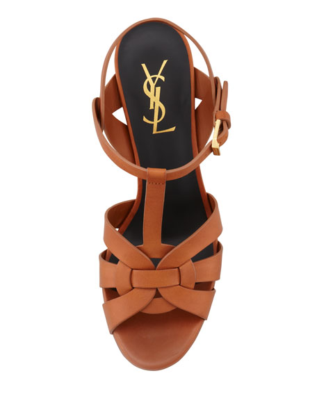 Tribute Leather 75mm Sandal, Brown