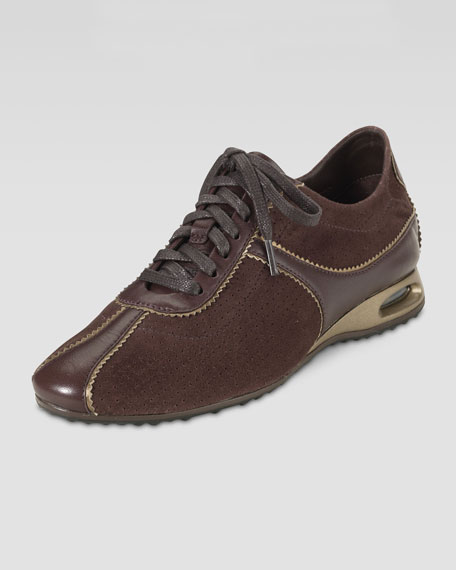 Air Bria Perforated Suede Oxford, Chestnut