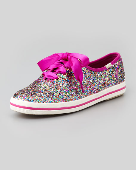 kate spade new york Keds® glitter sneaker, multi